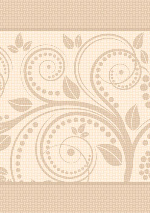 Plakát Světle hnědé pozadí s květinovými ornamenty - Pozadí