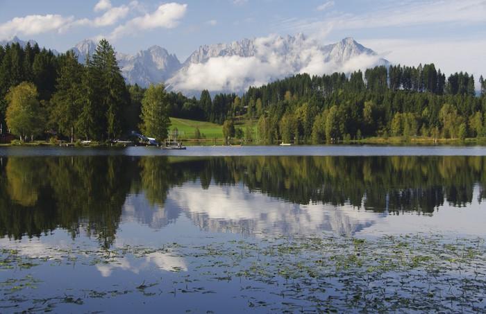 Nálepka Pixerstick Spadají pod Wilder Kaiser - Schwarzsee - Evropa