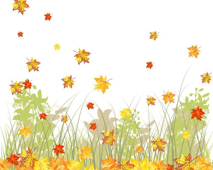 Papier Peint à Motifs Vinyle Meadow automne fond - Saisons