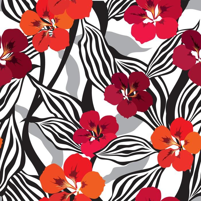 Vinylová Tapeta Květiny bezešvé pozadí. Květinové textury s květinami. - Pozadí