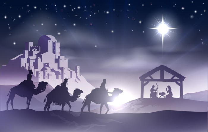 Nativity Christmas Scene Wall Mural   Vinyl   Christmas Part 13