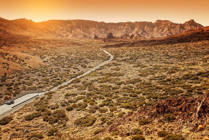 Vinylová Tapeta Desertic Road v údolí Orotava, Tenerife - Evropa