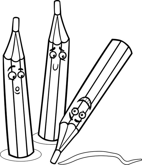 Fotomural Colorear dibujos animados crayones • Pixers® - Vivimos ...