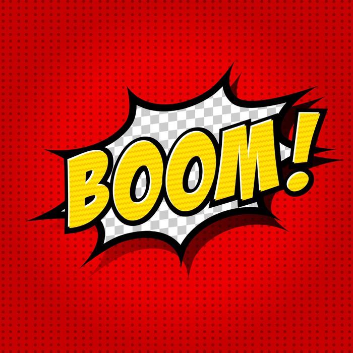 Boom! - Comic Speech Bubble, Cartoon Wall Mural - Vinyl - Themes