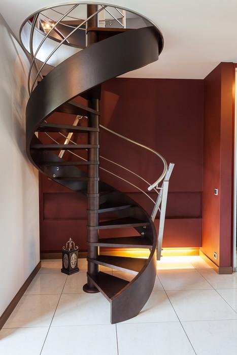 Vinylová Tapeta Točité schodiště v moderní luxusním domě - Domov a zahrada