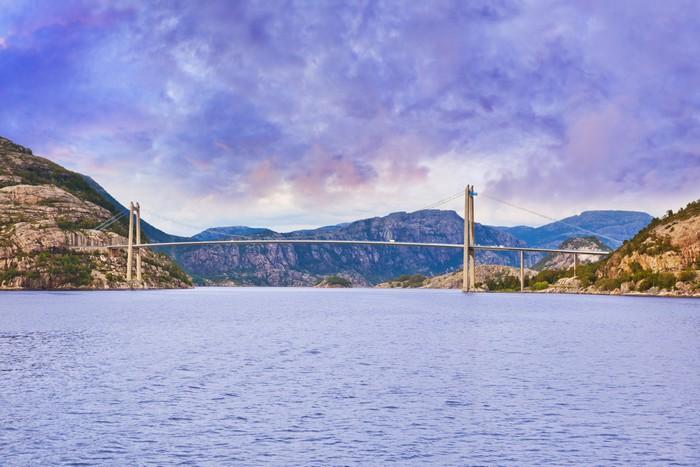 Vinylová Tapeta Most v fjordu Lysefjord - Norsko - Prázdniny