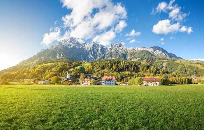 Vinylová Tapeta Horská obec v Rakousku, Leogang - Outdoorové sporty