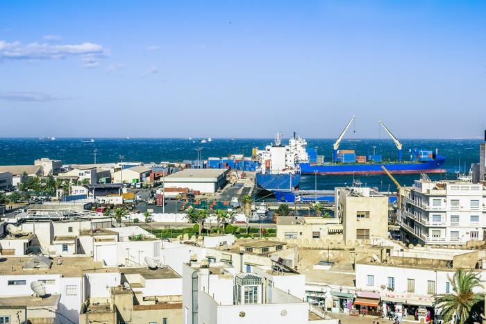 Vinylová Tapeta Pohled z výšky přes port Sousse Tunisko - Afrika