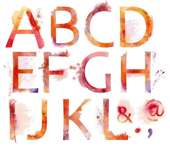 Vinylová Tapeta Akvarel abecedy - Umění a tvorba