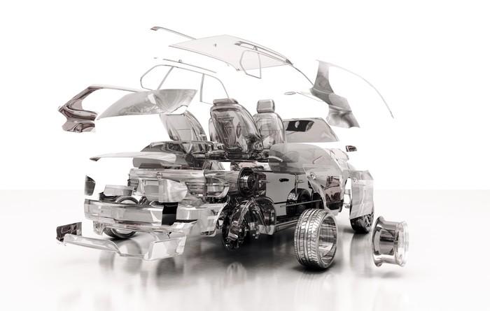 Fototapete Transparent Auto, Komponenten, 3D-Design, Tuning, Motor ...