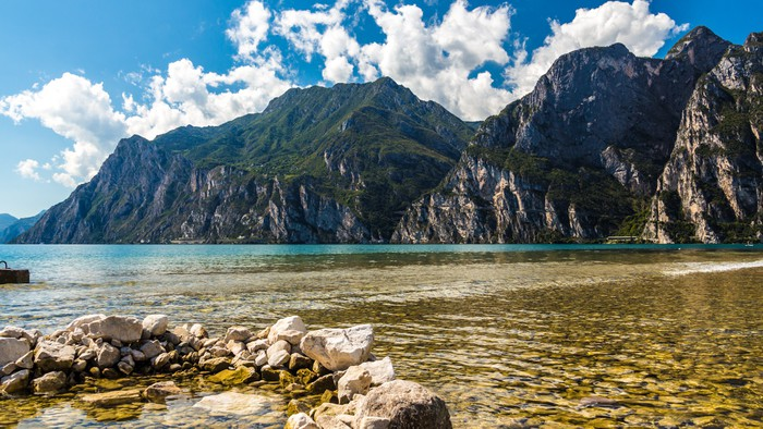 Vinylová Tapeta Výhled na jezero - Evropa