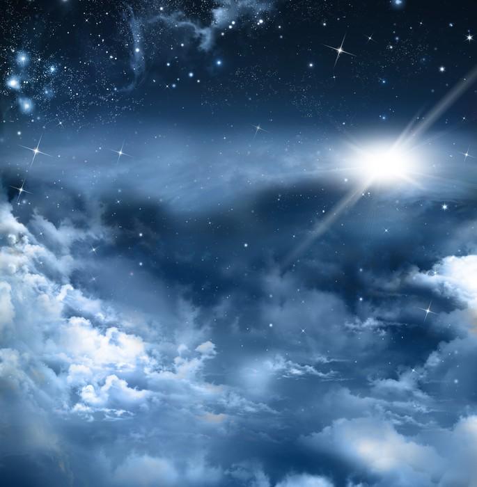 tableau sur toile beau fond de ciel nocturne pixers nous vivons pour changer. Black Bedroom Furniture Sets. Home Design Ideas