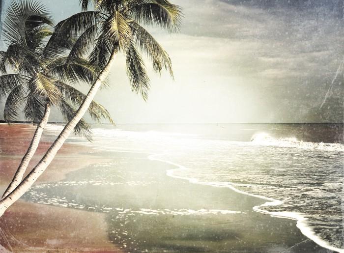 Vinylová Tapeta Vintage Tropical Beach Background - Voda