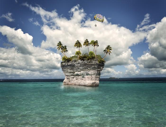 Vinylová Tapeta Tropický ostrov - Voda