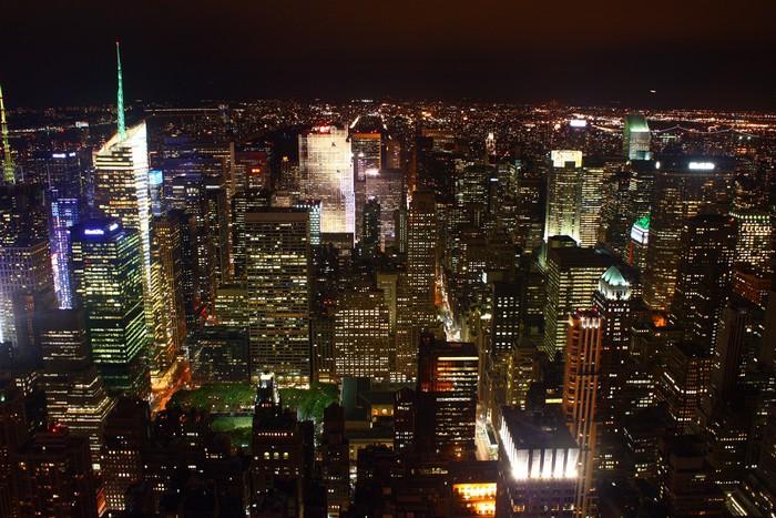 Carta da parati paesaggio notturno di new york pixers for Carta da parati new york ebay
