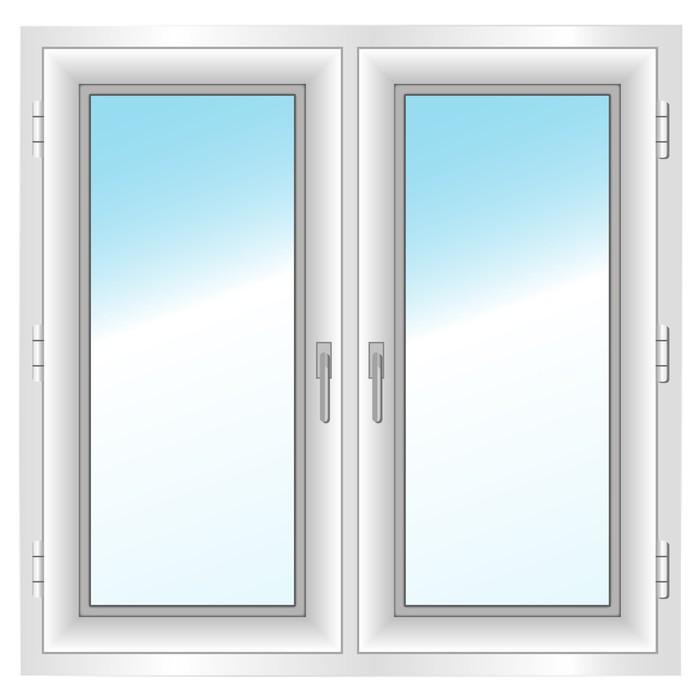Vinilo Pixerstick Plástica cerrada de doble ventana. Ilustración del ...