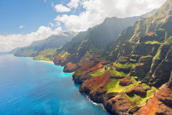 Vinylová Tapeta Na Pali pobřeží ostrova Kauai v létě - Témata