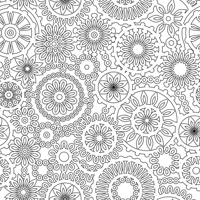 papier peint g om trique abstraite en filigrane seamless noir et blanc pixers nous vivons. Black Bedroom Furniture Sets. Home Design Ideas