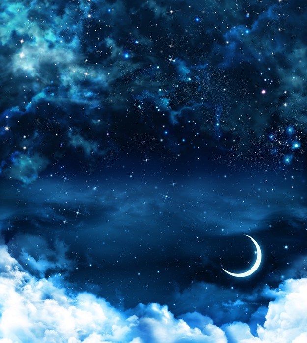 Vinylová Tapeta Krásné pozadí, noční obloha - Témata
