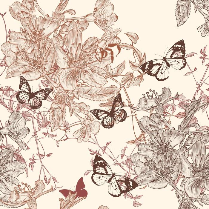 tableau sur toile motif de papier peint sans soudure l gante avec des fleurs pixers nous. Black Bedroom Furniture Sets. Home Design Ideas