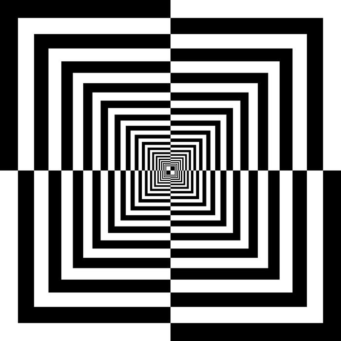 Vinyl-Fototapete Schwarzen und weißen Quadraten - Themen