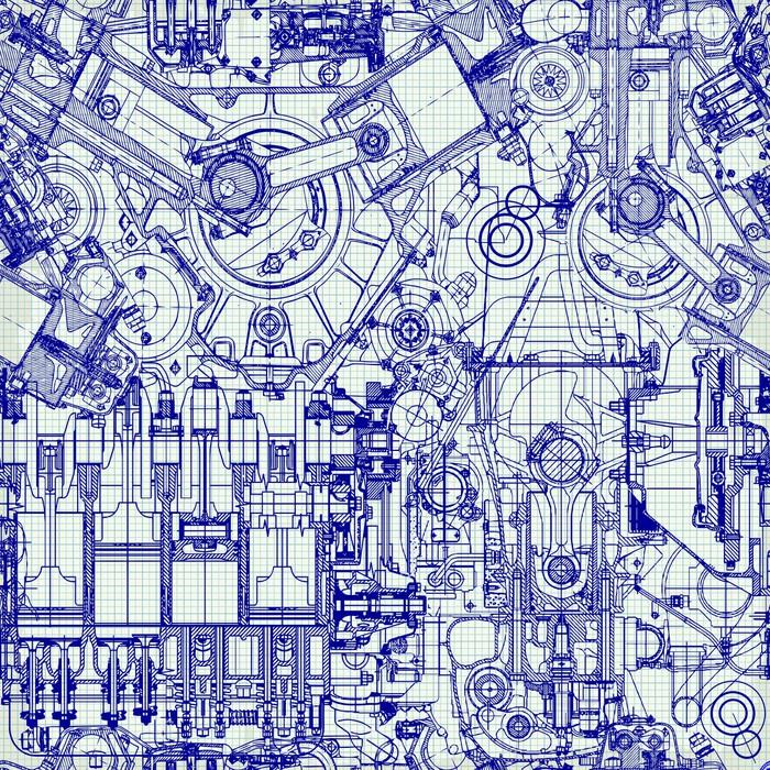 Papier peint arri re plan transparent dessin ancien moteur sur du papier millim tr pixers - Papier peint ancien ...
