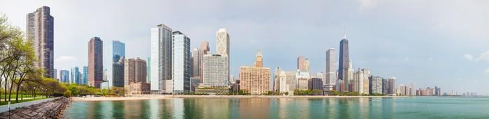 Vinylová Tapeta Downtown Chicago, IL slunečného dne - Amerika