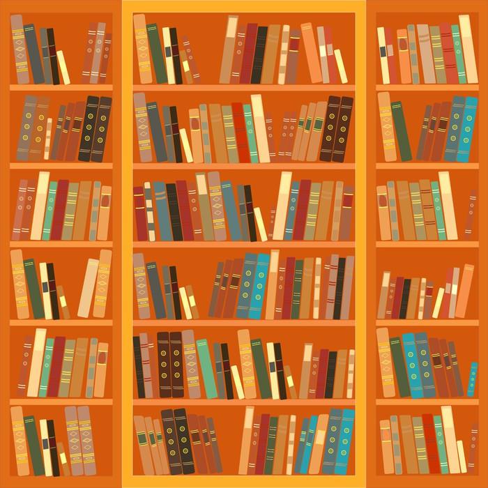 papier peint grande biblioth que avec des livres diff rents pixers nous vivons pour changer. Black Bedroom Furniture Sets. Home Design Ideas