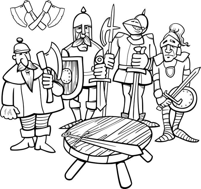 Carta da parati cavalieri della pagina da colorare tavola rotonda pixers viviamo per il - Numero cavalieri tavola rotonda ...