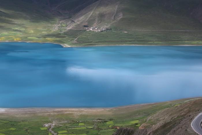 Vinylová Tapeta Ovce Lake, které bylo přijato v čínském Tibetu - Asie