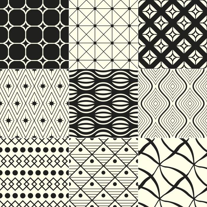 papier peint fond abstrait g om trique noir et blanc pixers nous vivons pour changer. Black Bedroom Furniture Sets. Home Design Ideas