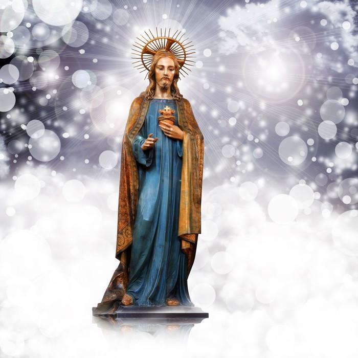 Fototapete Jesus Christus, Statue, Weihnachten, stieg Hintergrund ...