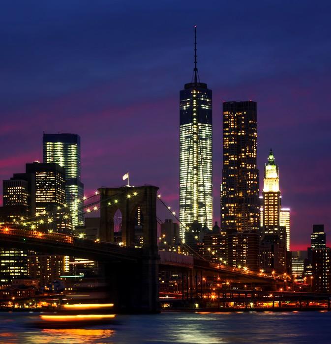 fototapete night at new york city pixers wir leben um zu ver ndern. Black Bedroom Furniture Sets. Home Design Ideas