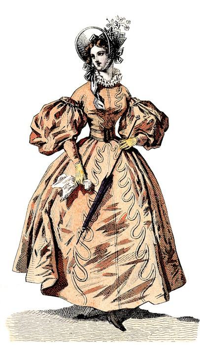 Vinylová Tapeta Elegance - 19. století - Žena