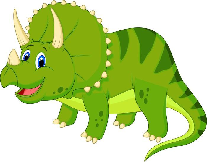 Vinilo pixerstick lindo triceratops de dibujos animados - Dibujos de vinilo para paredes ...