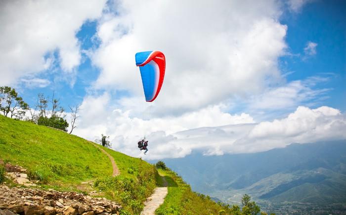 Vinylová Tapeta Padákový kluzák letí proti Himaláje, Nepál. - Témata