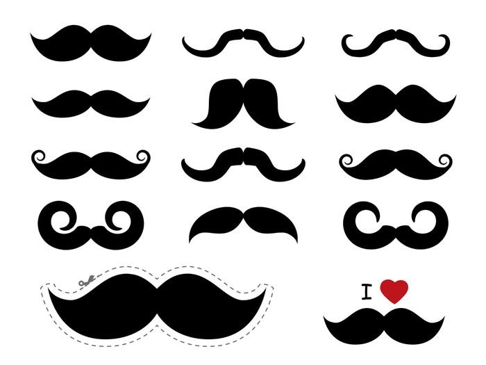 Vinylová Tapeta Knírů ikony / knír - Movember - Jiné pocity