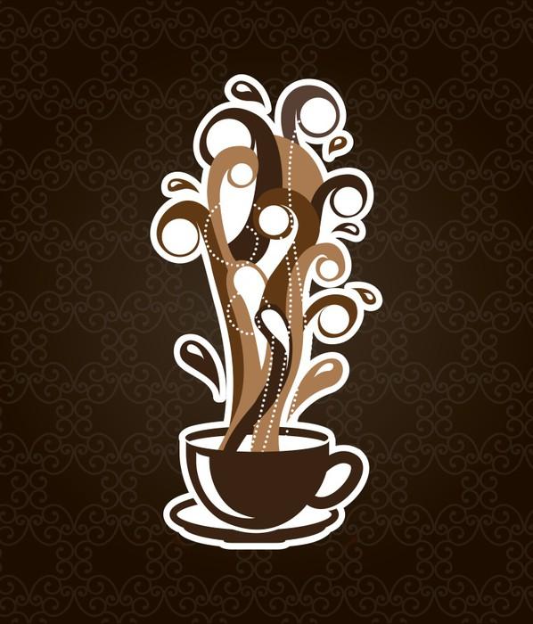 Vinylová Tapeta Kávu designu - Horké nápoje