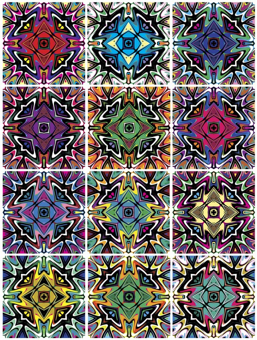 Native American Patterns With Spiritual Symbols Wall Mural Pixers