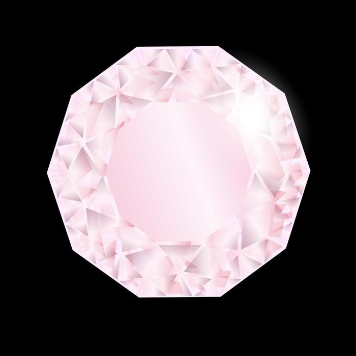 Vinylová Tapeta Lesklý růžový diamant. Vektor - Móda