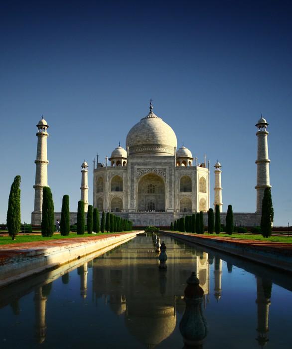 Vinylová Fototapeta Taj Mahal - Agra, Indie - Vinylová Fototapeta