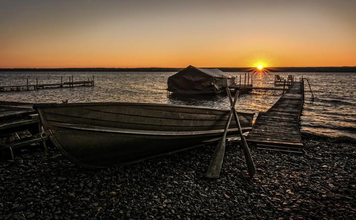 Vinylová Tapeta Jezero Cayuga Sunrise - Nebe