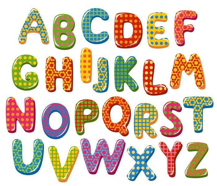 Poster Lettere Alfabeto Colorato Pixers Viviamo Per Il Cambiamento