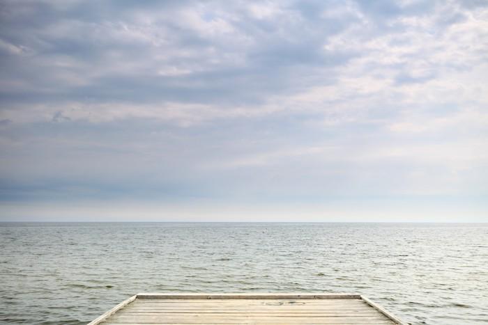 Vinylová Tapeta Staré dřevěné molo u moře - Témata