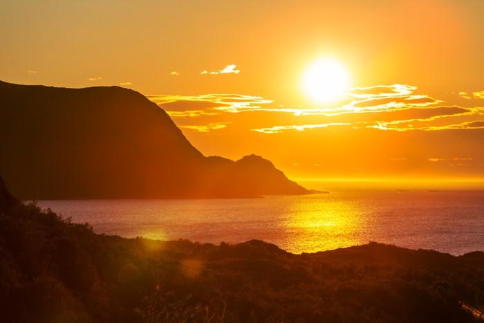 Vinylová Tapeta Sunset scene - iStaging