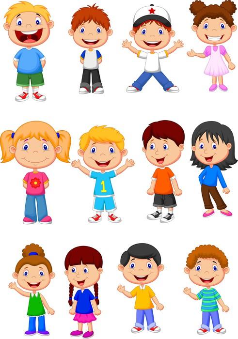 Cartoon Characters Mixed Together : Cuadro en lienzo niños conjunto de recopilación dibujos