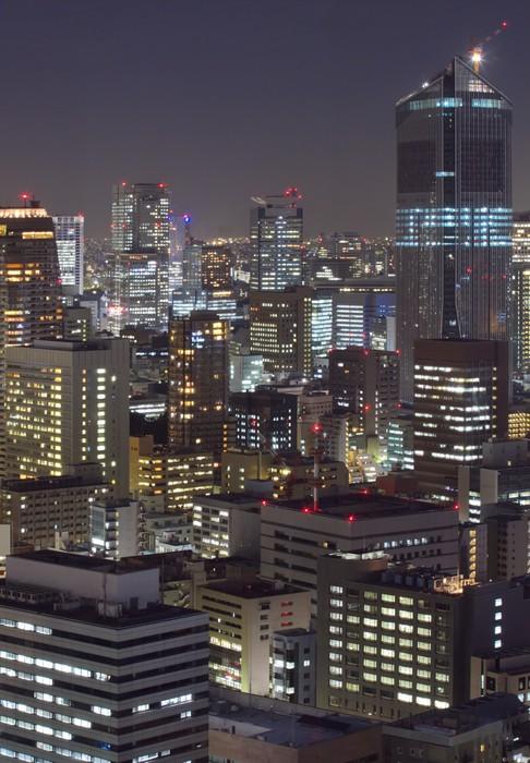 Vinylová Tapeta Město v noci Tokyo - Asijská města