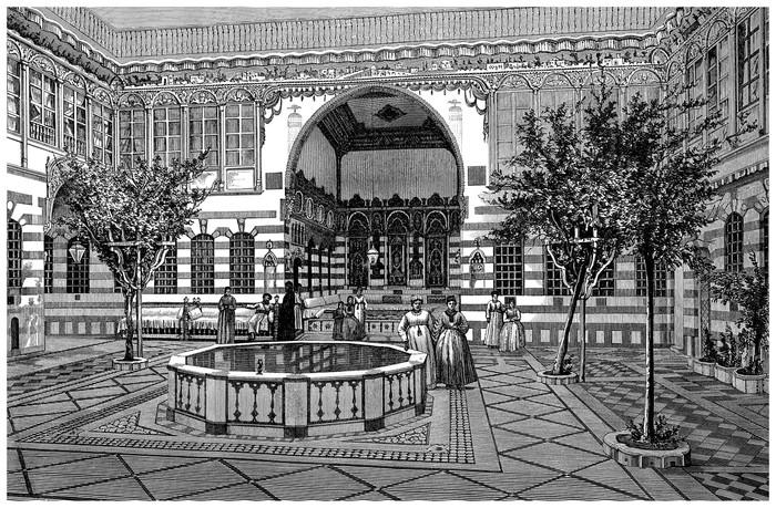 Interieur Midden Oosten : Fotobehang interieur huis patio midden oosten e eeuw