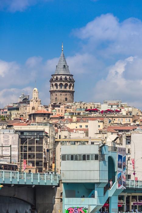 Vinylová Tapeta Panoráma města s Věž Galata přes Zlatý roh v Istanbulu, Tu - Střední Východ