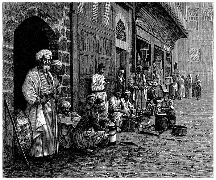 Vinylová Tapeta Trad. Souk - Bazar - Arabia (View 19. století) - Střední Východ